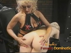 Cute tight ass blonde learns how to be a good slave Thumb