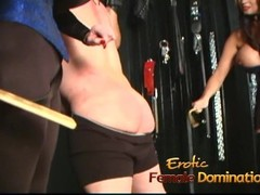 Two stunning busty playgirls have some fun with a horny stallion Thumb