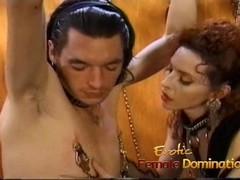 Kinky stallion has his throbbing shaft pleasured by a naughty slut Thumb