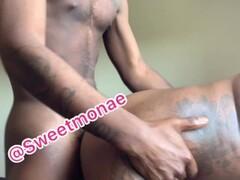 Cockcrush and footjob with red toenails Thumb