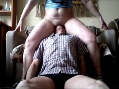 Forcing him to lick her pussy Thumb
