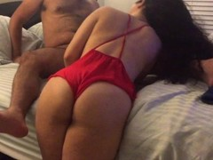First Home Video. Deepthroat, Doggystyle, and eating her pussy Thumb