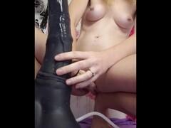 Train sitting next to redhead cutie Thumb