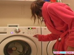 Young Diana teasing herself on new washing machine.mp4 Thumb