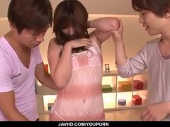 Perfect threesome along hot milf, Mami Yuuki Thumb