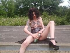 Sexy blond smoker Dahlia Sky Thumb