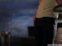Marta La Croft, big tits and round ass in public, before hard sex Thumb