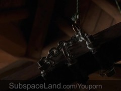 Imprisoned slave receives a bondage discipline and bdsm blowjob Thumb