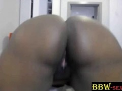 Black BBW Lindy_Bi Twerks Her Huge Ass And Big Tits BBW-SEXYcom Thumb