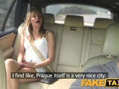 FakeTaxi Hot blonde in tight denim shorts Thumb