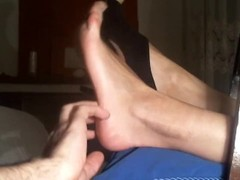 Sexy feet tickling in High heels Thumb