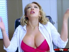 Sexy blonde executive likes working naked Thumb