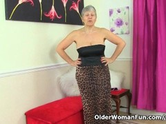 British granny Savana loves showing off her fuckable body Thumb