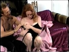 Hairy redhead chartreuse gets some dick Thumb