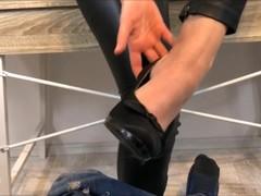 Teacher gives student a footjob stamina exam! Thumb