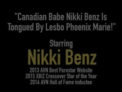 Canadian Babe Nikki Benz Is Tongued By Lesbo Phoenix Marie! Thumb