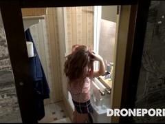 Spy cam in Rebeka's shower voyeur porn video Thumb