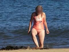 Swimsuit bikini costume transparent sheer beach hairy beaver.mp4 Thumb