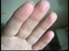 female hand fetish girl bites her nails and sucking her thumb je ronge mes ongles et suce mon pouce Thumb