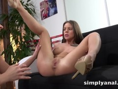 Lesbian Anal - Lita and Oprah take turns anal fucking with a vibrator Thumb