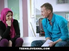 TeensLoveAnal - Cute Muslim Teen Anal Fucked in Hijab Thumb
