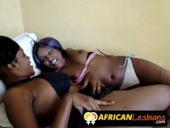 Adorable black lesbian girlfriends banging hard Thumb