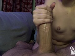 Ruined orgasm handjob - Miss Banana Thumb