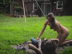 Sexy Hippies - Backyard Love Making (public) Thumb