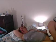 MIlf Masturbates While Watching Lesbian Porn w/ Explosive Orgasm Thumb