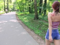 Redhead cutie caught at public park. Luckily she's into kinky stuff! (PISS) Thumb