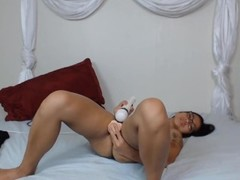 Young Asian doll with sexy glasses fucking hairy pussy.mp4 Thumb