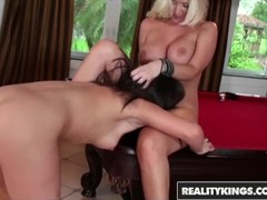 Reality Kings  - Sinndy and Molly Cavalli - Shooting pool and licking pussy Thumb