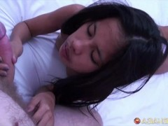 Asian Sex Diary - Big white cock creampies Filipina beauty Thumb
