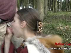 Kinky Viking slut Nadine Cays blows old guy with facial insemination Thumb