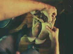 Bondage Dirty Soles Footjob from Goth Girl Thumb