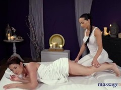 Massage Rooms Czech beauty Anna Rose tribbing pussy eating and finger fuck Thumb