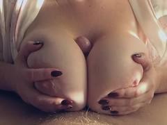 Big boobs titty fuck till cum Thumb