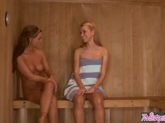 Twistys  - Sexy lesbian teens Jessie Rogers , Melissa XoXo - Love In The Sauna Thumb