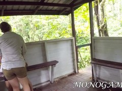 WE ALMOST GET CAUGHT FUCKING IN THE JUNGLE - REAL PUBLIC SEX - MONOGAMISH Thumb
