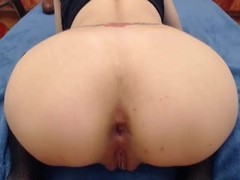 girl jumps on a huge dildo right up to the gaping anus Thumb