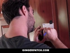 GingerPatch - Stepbro Gets Cock Sucked in Kitchen Thumb