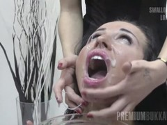 Premium Bukkake - Linda swallows 71 huge mouthful cumshots Thumb