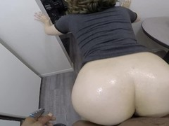 Sexy girlfriend lifts up her dress & gets fucked by a BBC in the kitchen! Thumb