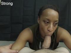 HOT ebony amateur milf learning to suck dick like a pornstar Thumb