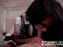 Mixed daughter sucks stepdaddy pov blowjob and virtual sex ft Kitana Kojima Thumb