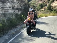 Sexyt bike chick masturbating on the bike Thumb