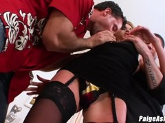 Paige Ashley gets what she wants and is dped by 2 dicks Thumb