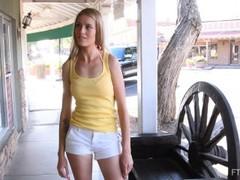 amateur blonde sneaky masturbates on the street Thumb