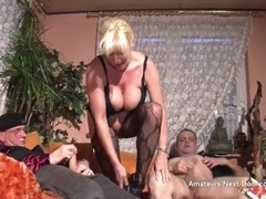 Busty matures threesome with bi guys Thumb