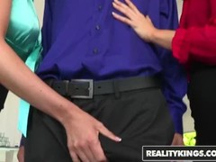 Reality Kings - CFNM 4some with Ash Hollywood& Natalia Starr& Brooklyn Chase Thumb